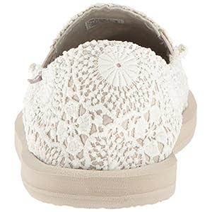 Sanuk Women's Donna Crochet Loafer Flat, White/Oatmeal, 06 M US