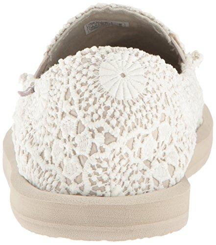 Donna White Blanco Wotm para Mujer Sanuk Crochet Oatmeal Mocasines FqdnOw