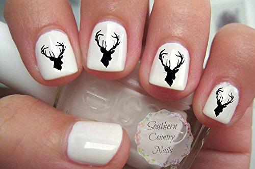 Vintage Deer Nail Art Decals Gorgeous 20pcs (Deer Nail Decals)