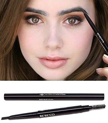 Waterproof Smudgeproof Longlasting Eyebrow Pencil Brow Liner Cruelty Free Sweatproof Drawing Eye Brow with Brush for Girls Women Novice (gray)