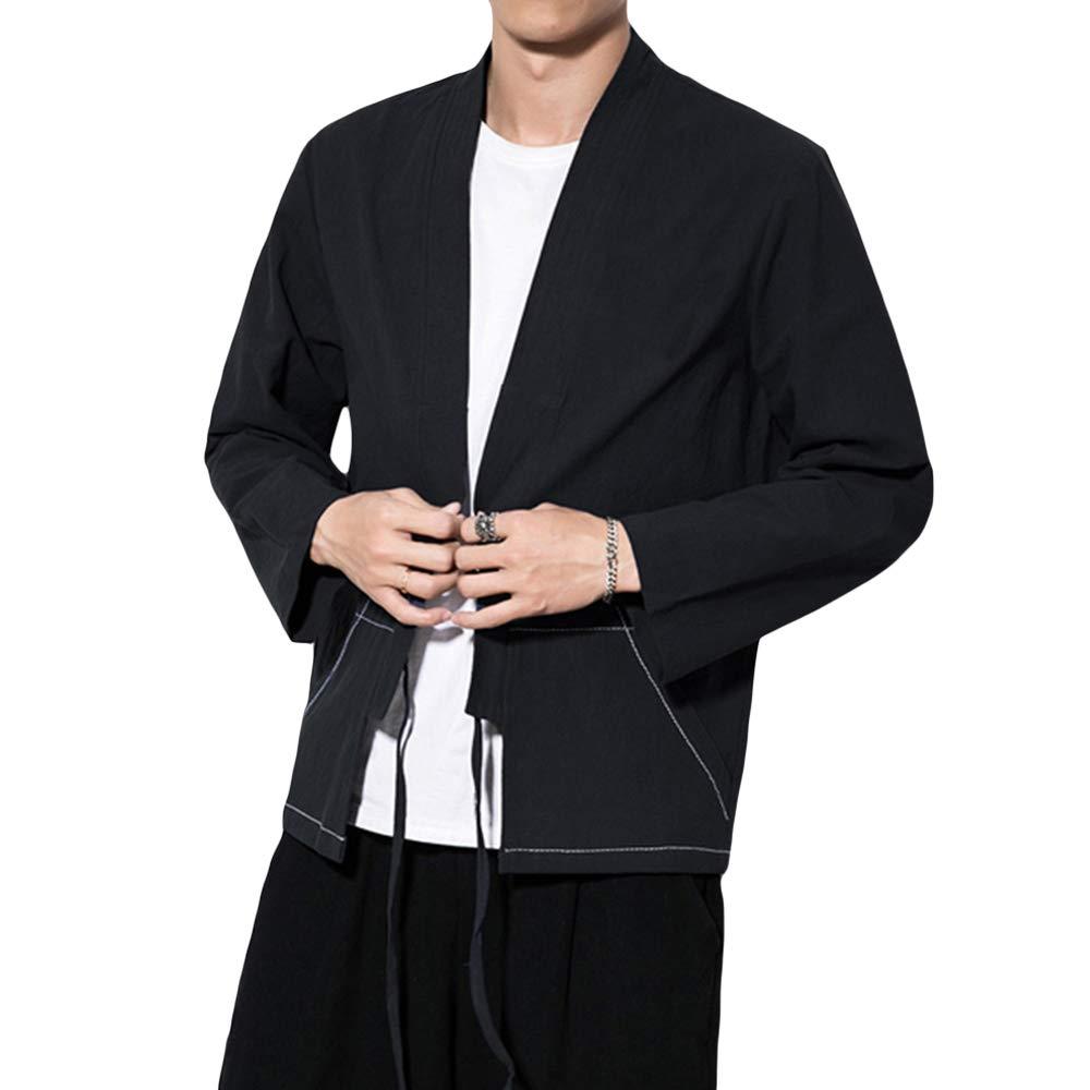 Amazon.com: Invachi - Kimono para hombre de mezcla de ...