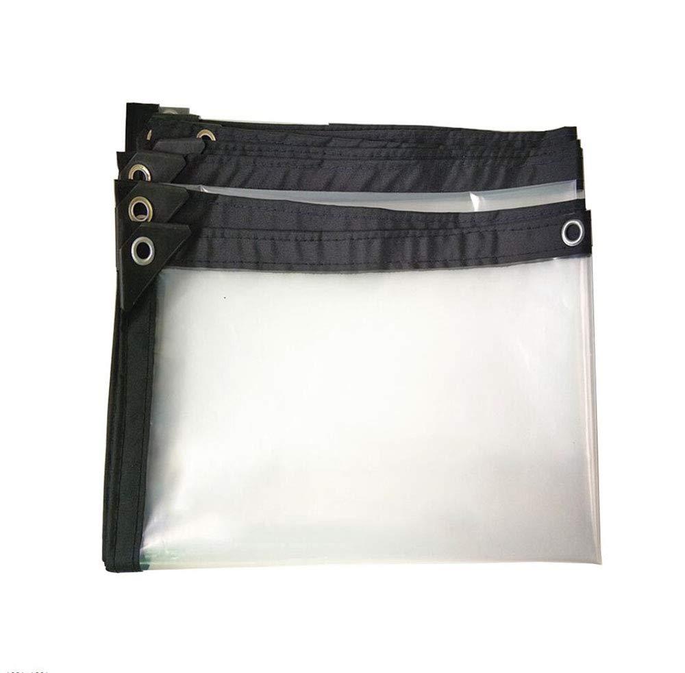3X8m M-Y-L Bache serreTarpaulin Imperméable à l'eau Heavy Duty épaissit Transparent Isolation Rainproof de plein air Polyethylene Tarps, 18 Tailles Personnalisables,5X6m