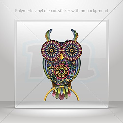 seventies 70's Various sizes Decals Decal Floral Owl Decor Motorbike Bicycle Vehicle ATV car Laptop (6 X 3.42 Inches) ()