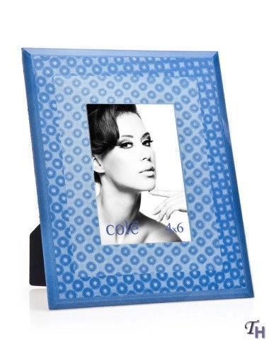 3d Blue Circles 4x6 Picture Frame