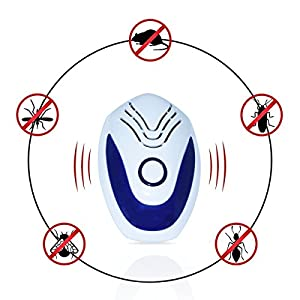 2018 Upgraded Pest Repeller - BEST Control 6-Pack with TRIPLE Power [Ultrasonic + Electromagnetic + Nightlight] - Plug-In Electronic Home Repellent Anti Mice, Ant, Roach, Mosquito, Outdoor/Indoor