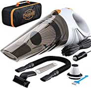Portable Car Vacuum Cleaner: High Power Corded Handheld Vacuum w/ 16 Foot Cable - 12V - Best Car & Auto Ac