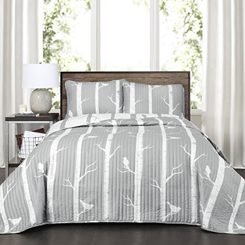 Lush Decor Lush Décor Bird on the Tree 3 Piece Quilt Set, F