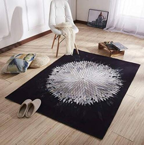 Nordic Super Large INS Soft Flannel Geometric Rug Thick Living Room Carpet Play mat Non-Slip Rug Blanket