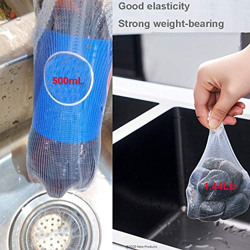 HogarDeco Kitchen Sink Mesh bags filter, Disposable Sink Strainer Garbage Bags,Floor Drain Protector Hair Cather, Laundry Drain Cover Mesh for Kitchen Sinks and Bathroom (200pcs)
