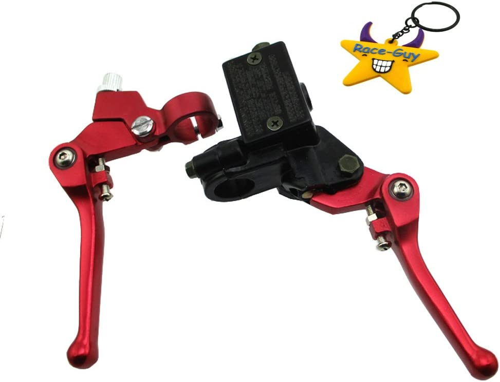 Red Race-Guy Red Hydraulic Brake Master Cylinder Clutch Lever For DHZ GPX Pitster Pro SDG Braaap Taotao Coolster Lifan YX Dirt Bike
