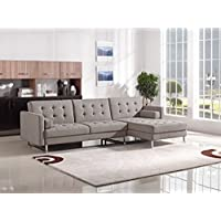 Divani Casa Smith Modern Fabric Sectional Sofa