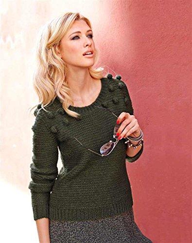 Femme Olive Vert Aniston Pull Opaque qxvx8E