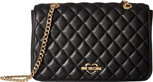 LOVE Moschino Women's Superquilting Shoulder Bag Black Handbag by Love Moschino