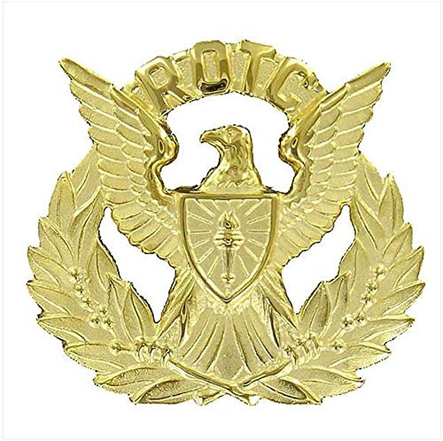Vanguard Army ROTC Cap Device: Regulation Officer Wreath - Gold with Eagle