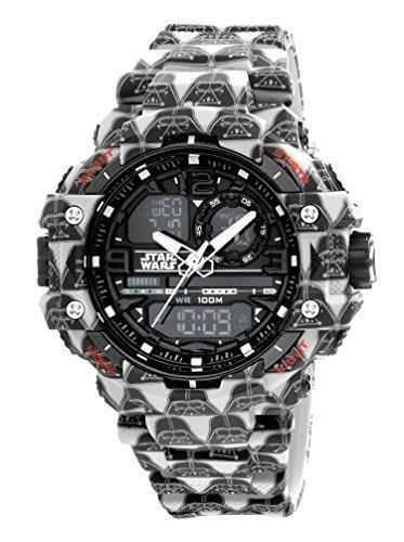 (AM:PM Star Wars Darth Vader Digital Sports 55mm Men's Watch SP165-G428 Analog Display)