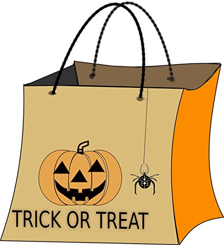 Quality Prints - Laminated 24x26 Vibrant Durable Photo Poster - Halloween Bag Trick Or Treat Sweets Collect]()