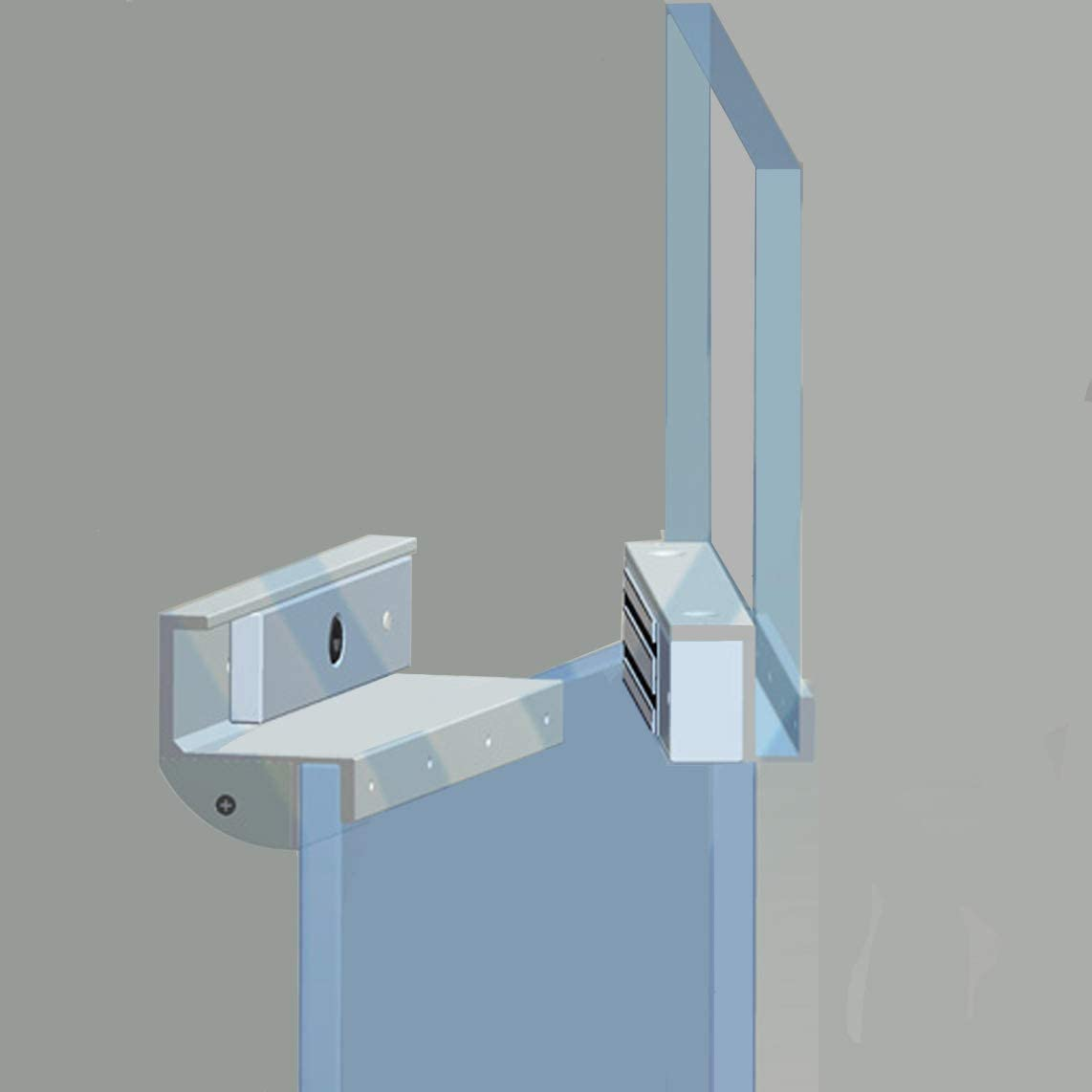 Gz Type Bracket Holder For 280kg 600lbs Holding Force Electric Magnetic Lock Fully Frameless Glass Inswinging Door Home Improvement