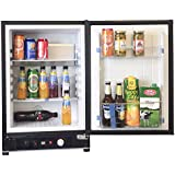 SMETA Propane Gas Refrigerator for Dorm 110V Absorption Hotel Mini Fridge 12V Cascadia Fridge RV Bar Cooler,1.2 Cu Feet,Black