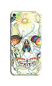 LarryToliver Rich and colorful Beautiful Skull Background image iphone 5c Cases #3