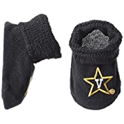 Two Feet Ahead NCAA Vanderbilt Commodores Infant Gift Box Booties, One Size, Black