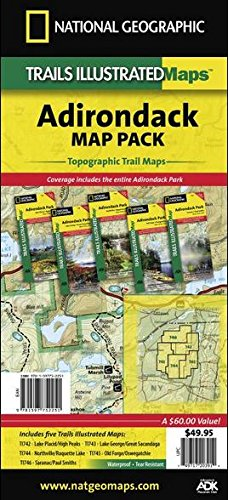 (Adirondack Park Topo Map Pack National Geographic Waterproof Topographic Trail Maps New York)