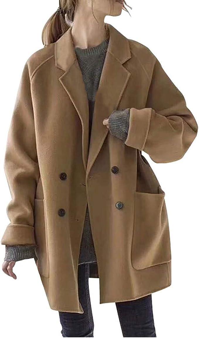 Donna Cappotto Invernale Donna Ufficio Giacca Trench Cappotto Outwear Blazer Taglia 6 8 10 14