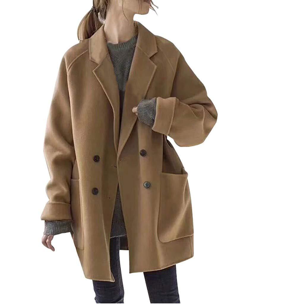 Wenini Fashion Coat Windbreaker for Women Casual Loose Long Sleeve Cardigan Cardigan Tops Coat Windbreaker by Wenini Women Coat
