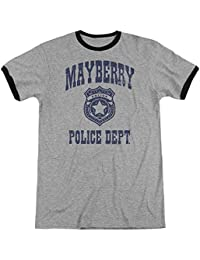 Andy Griffith Show Mayberry Police-Adult Ringer-Heather Black