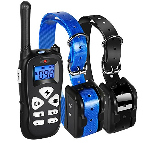 Ticent Dog Training Collar for 2 Dogs 1800ft Remote Waterproof Rechargeable Electric Shock Collar with Beep/Vibration/Shock Modes for Small Medium Large Dogs [2018 New Version]