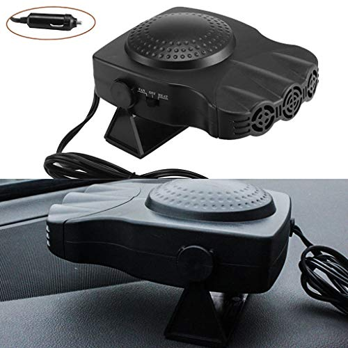 Auto Heater Fan Portable Car Heater Auto Heater Cooling Fan 3-Outlet Defrosts Defogger: