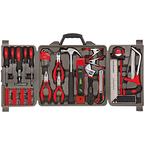 Apollo Tools DT0204 71 Piece Household Tool Kit with Most Reached for Hand Tools in Storage Case by Apollo Tools