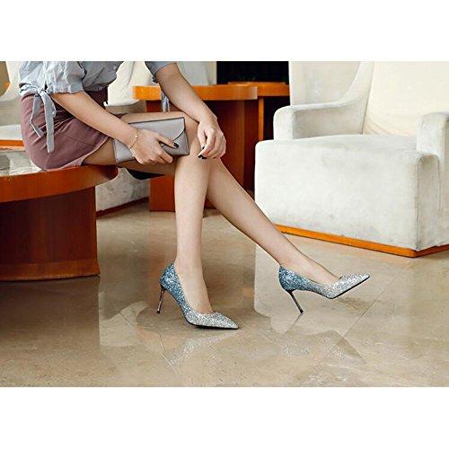 taille Talons EU38 De Sexy Chaussures 5 CN38 8cm Printemps Pointu Hauts Escarpin UK5 Mariage 2018 De MUMA Cristal Couleur Saison Mariée Chaussures 8cm pqvSTw85