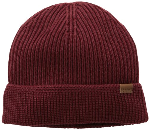 - Kangol Unisex-Adult's Squad Fully Fashioned Cuff Pull-On Cap, Claret, 1SFM