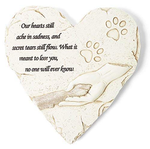 Orchid Valley Dog or Cat Memorial Stone or Grave Marker; Thoughtful Pet Sympathy Gift for The Loss of a Beloved Canine or Feline Friend. Waterproof and Weatherproof, Can Be Used Inside or Out.
