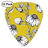 Flowers Yellow, Bendy Ultra Thin 0.46 Med 0.73 Thick 0.96mm 4 Pieces Each