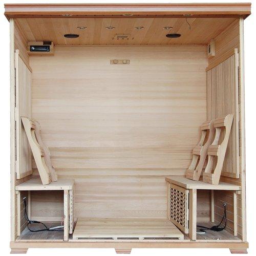 6-Person Cedar Infrared Sauna w/ 10 Carbon Heaters