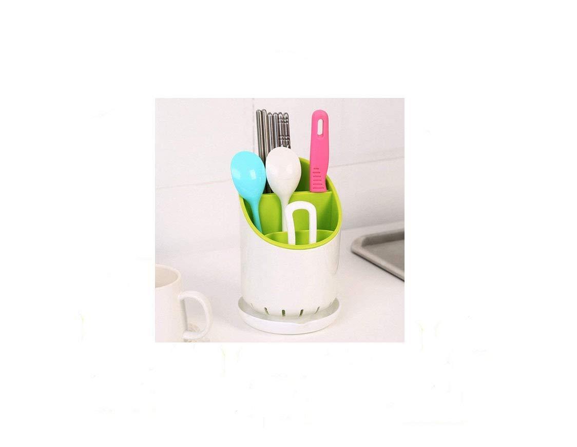 1 pc Kitchen Home Cutlery Drainer Strainer Organizer Dryer Storage Fork Spoon Plastic Cutlery Holder Kitchen Accessories(Random Color) xff