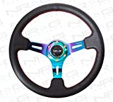 NRG - Black Leather Steering Wheel 3