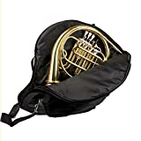 Andoer 600D Water-resistant French Horn Gig Bag Oxford Cloth Adjustable Single Shoulder Strap Pocket 5mm Cotton Padded
