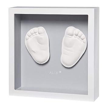 BabyArt Erinnerungs-Bilderrahmen My Baby Style Grey für Fuß//Handabdruck