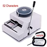 Ridgeyard 52 Characters Manual Dog Tag Embosser Engraver 52 Code Dog ID Card Military Embossing Stamping Machine