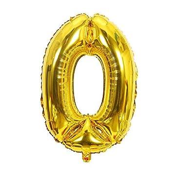 ShopVip Globos de cumpleaños - número 0 - Decoración ...