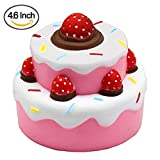 Slow rising squishies toy Squishy Kawaii Jumbo Stress Relief Scented Squishy Toys For Kids and Adults,Pink Strawberry Cake