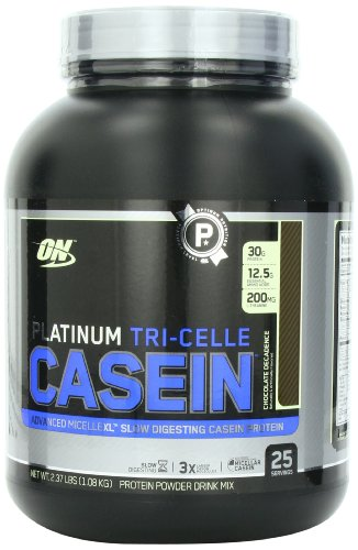 Optimum Nutrition Platinum Tri-Celle caséine, Chocolat Decadence, 2,37 Pound