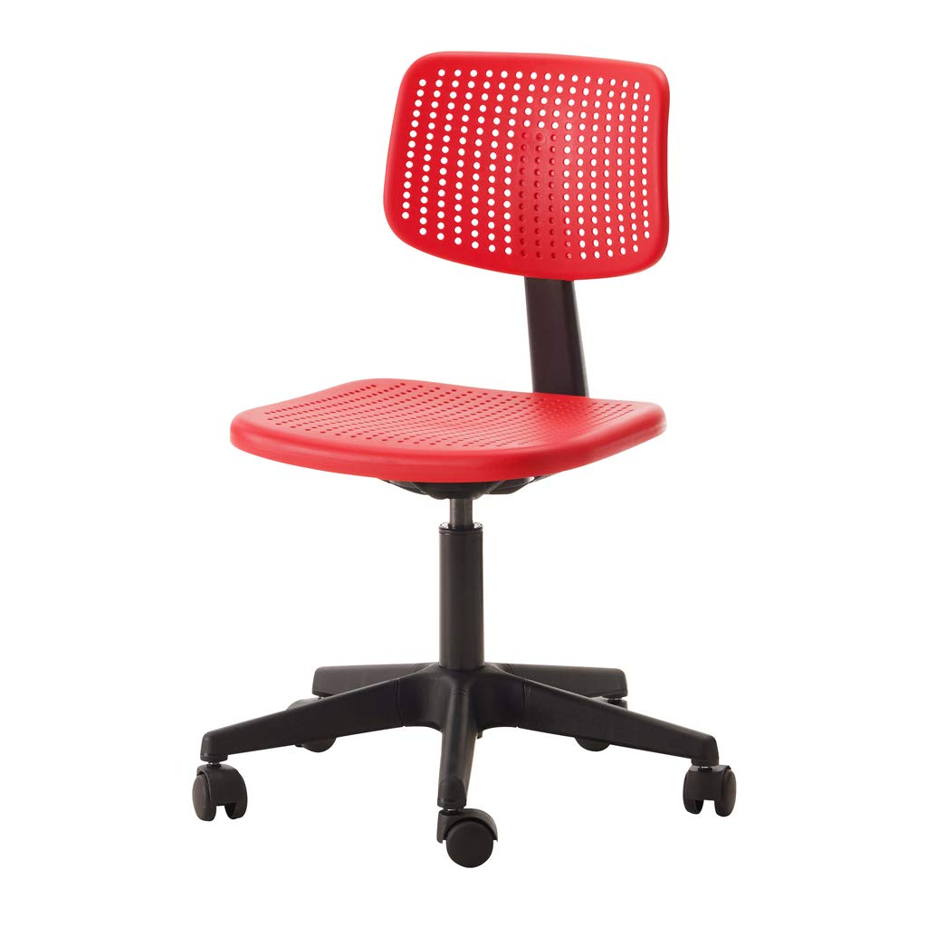 YXYH Swivel Chairs 5 Wheels Seat For Office Study Computer Lift Adjust Plastic Red Blue (Color : Blue)