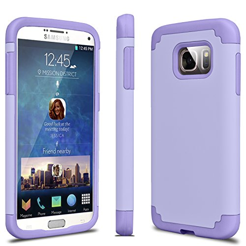 (Tekcoo Galaxy S7 Case, [Tbaron Series] [Lavender] Shock Absorbing Hybrid Rubber Plastic Impact Defender Rugged Slim Hard Case Cover Shell for Samsung Galaxy S7 S VII G930 GS7 All Carriers)