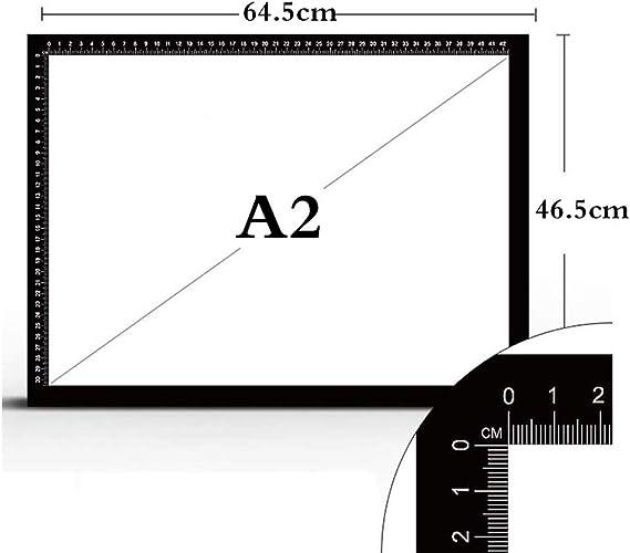 LEDライトパッド製図板、調節可能なLightbrightness搭載USB、アーティスト、アニメーションの描画、スケッチライトパッドコピーボードのための調節可能,A2