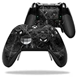 MightySkins Protective Vinyl Skin Decal for Microsoft Xbox One Elite Wireless Controller case wrap cover sticker skins Black Marble