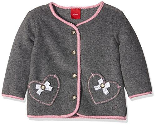 s.Oliver Baby-Mädchen Sweatshirt 77.607.43.4731, Grau (Dunkelgraumelange 9730), 86