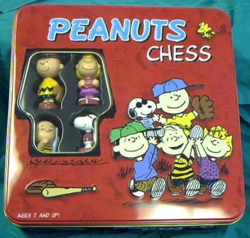 Chess Tin - Peanuts Chess in Red Tin